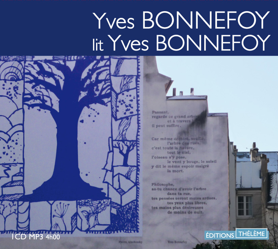 Yves Bonnefoy po&egrave;mes